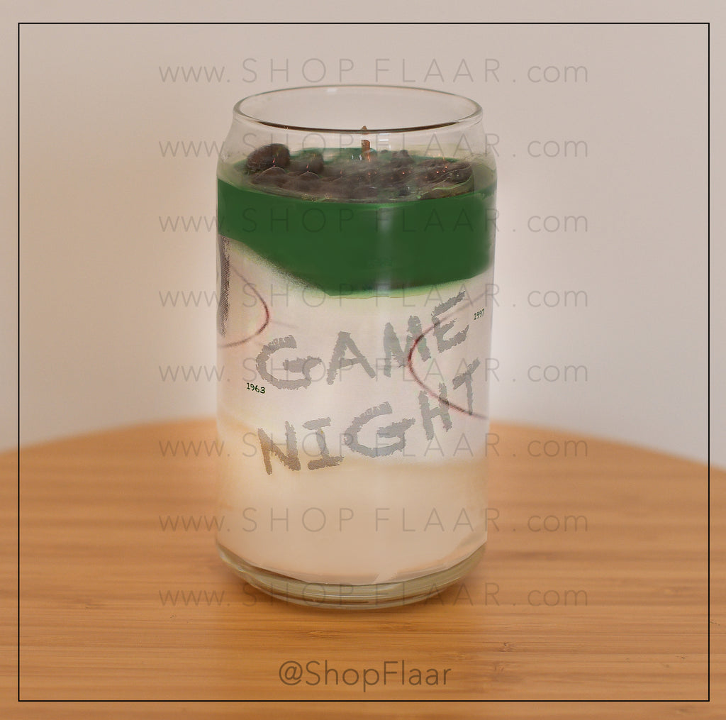 Game Night 16oz Soy Wax Candle In a Collector Glass