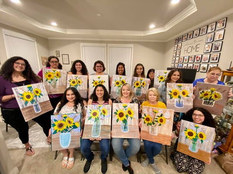 Painting Party for a Birthday