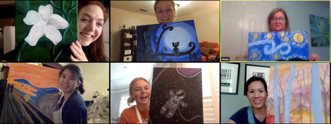 Virtual Team Building Event with Different Paintings