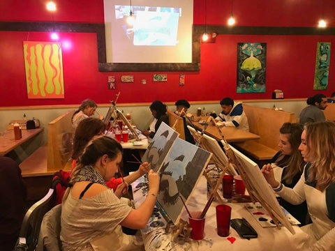 Painting to Gogh at Dimo's Pizza