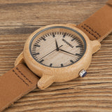 Blade Bamboo Watch with Wooden Box