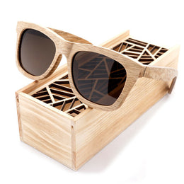 Odyssey Bamboo Sunglasses with Wooden Box Brown Lenses
