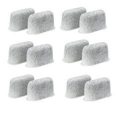12-Pack Replacement Charcoal Water Filters for Cuisinart Coffee Machines