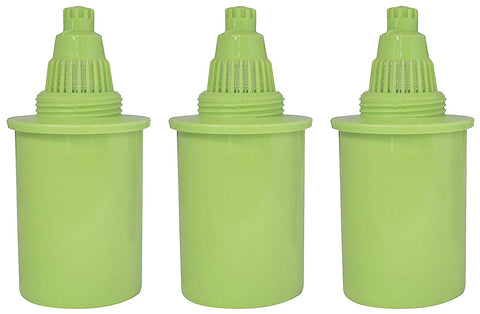 PURE GREEN WATER FILTER 3 Pack Water Pitcher Replacement Filters Pitcher