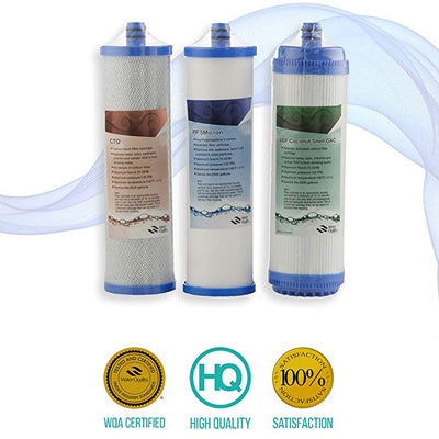 PURE GREEN WATER FILTER Model RO-10 5-Stage Reverse Osmosis Water Filter, White