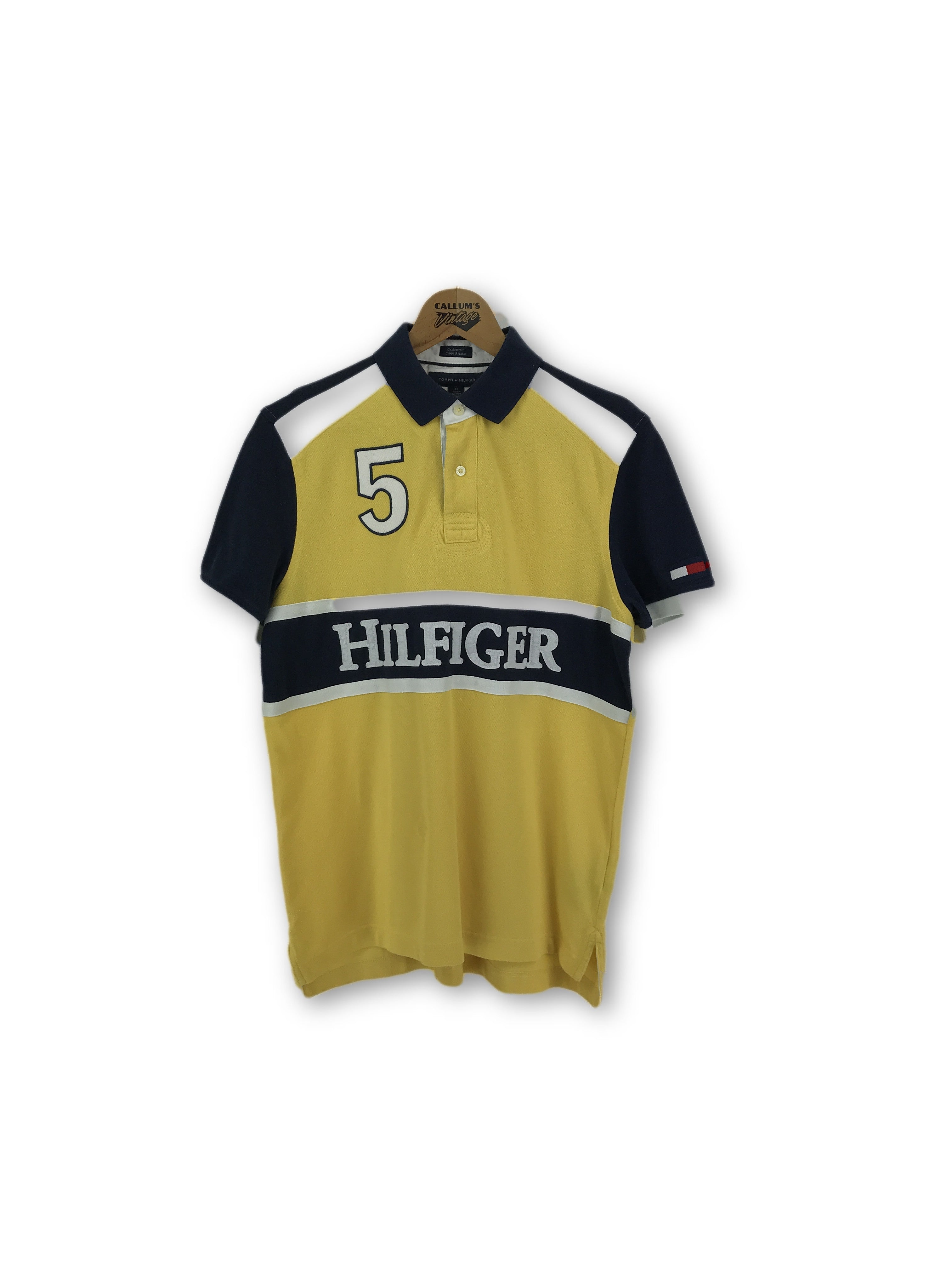 Tommy Hilfiger Spell Out Custom Fit Polo Shirt Medium