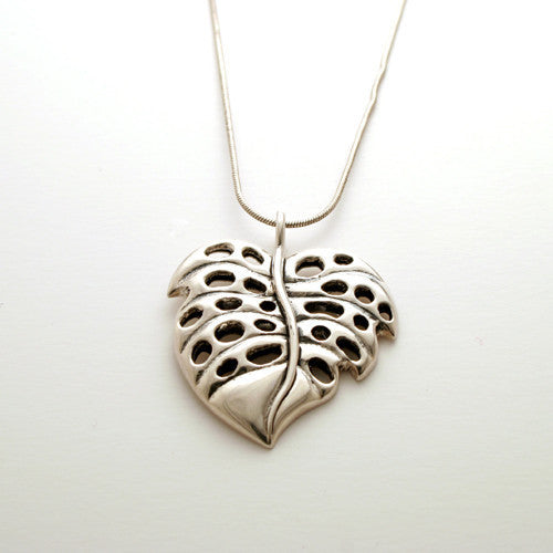 Necklace: medium Monstera Leaf on chain
