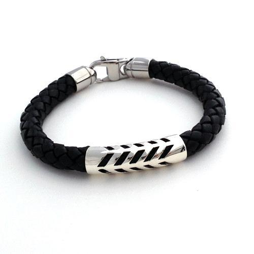 Bracelet: Kapa Leather Braided
