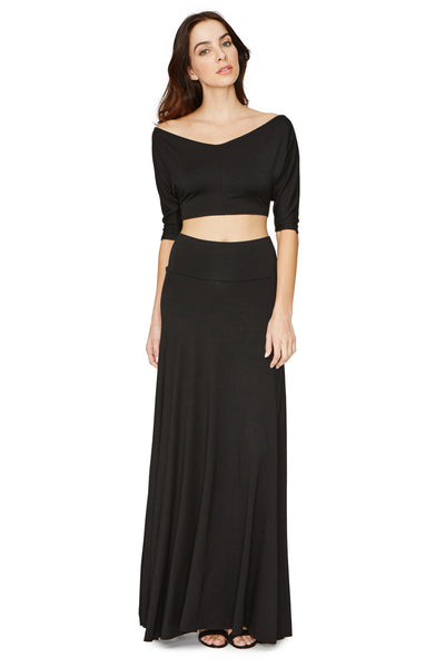 LONG FULL SKIRT-  BLACK XS