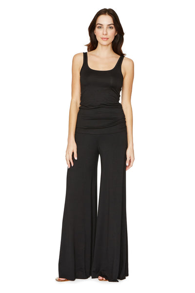 WIDE LEG TROUSER - BLACK SMALL