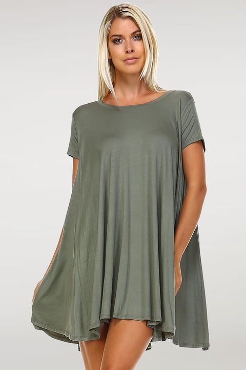 Short Sleeve Swing Tunic
