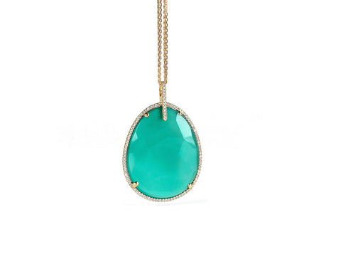 Necklace: Green Onyx