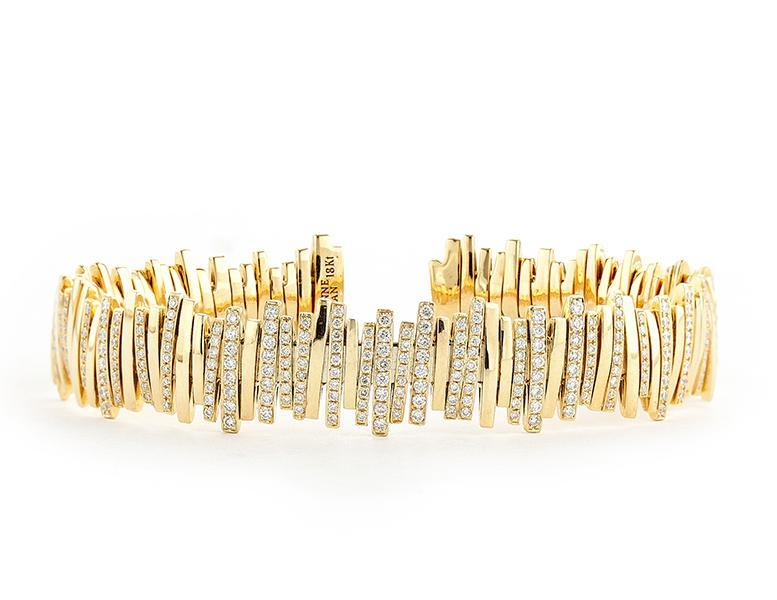 Bracelet: Wide Pave Diamond Bangle