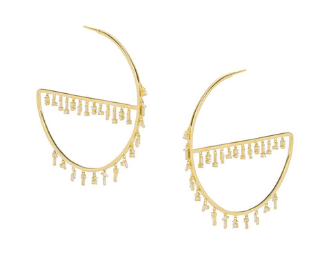 Earrings: 18k Fireworks Charm Hoop