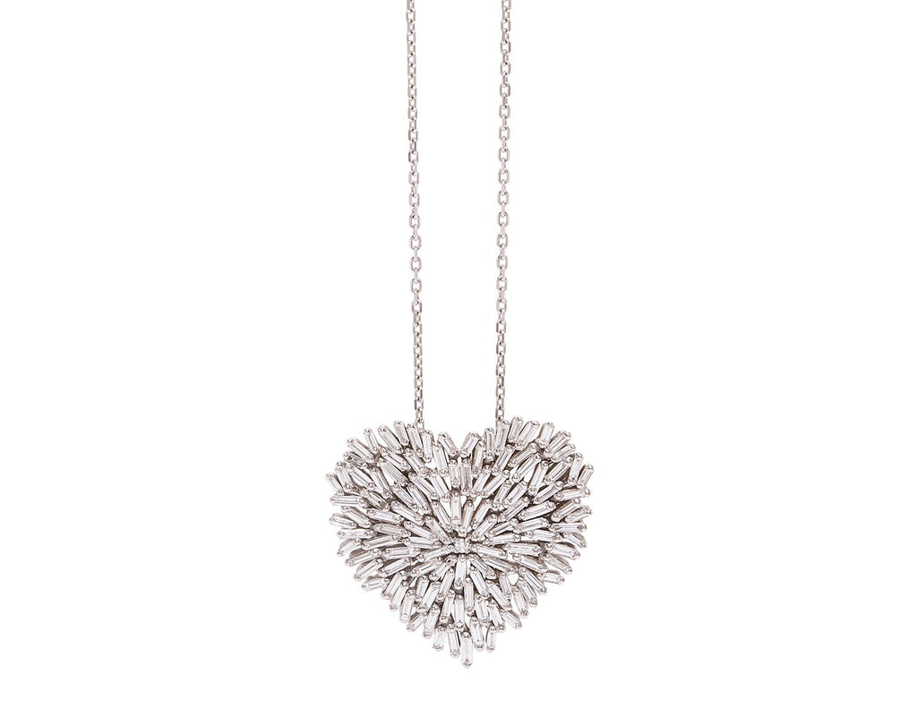 Necklace: 18k Large Bagguette Heart