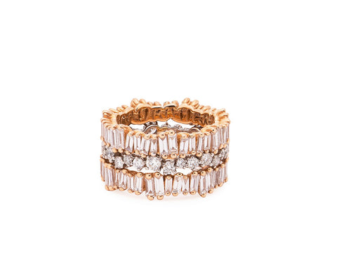 Ring: 18K Rose Gold Bliss Eternity Band