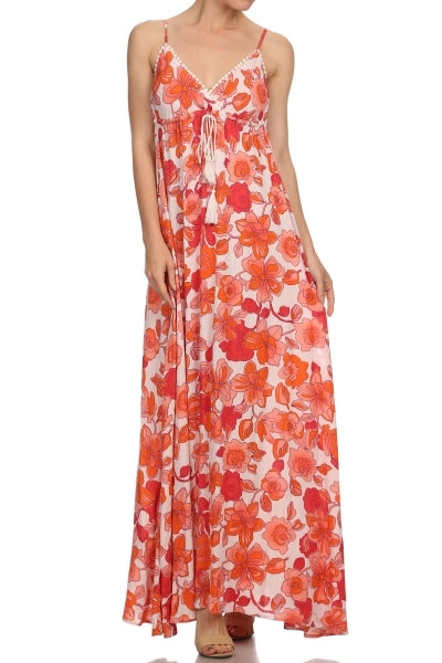 Dress - Floral Triangle Top Maxi