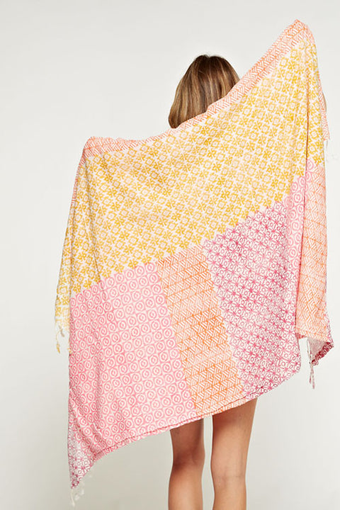 Neon Patchwork Beach Towel