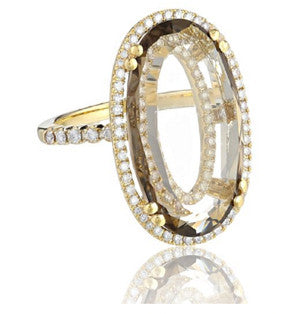 Oval Halo Diamond Sands