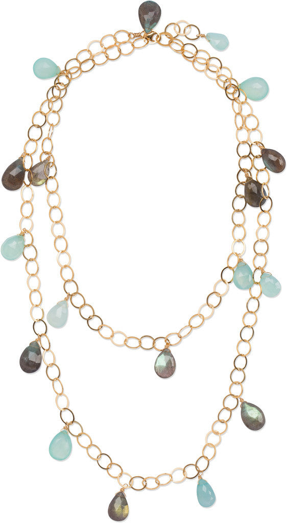 "40"" Long Layer Briolette Necklace"