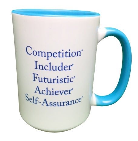 """Paint Me Blue"" Strengths Mug"