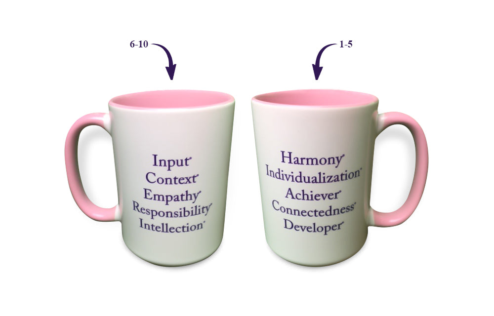 """Top 10"" Strengths Mug (Pink)"