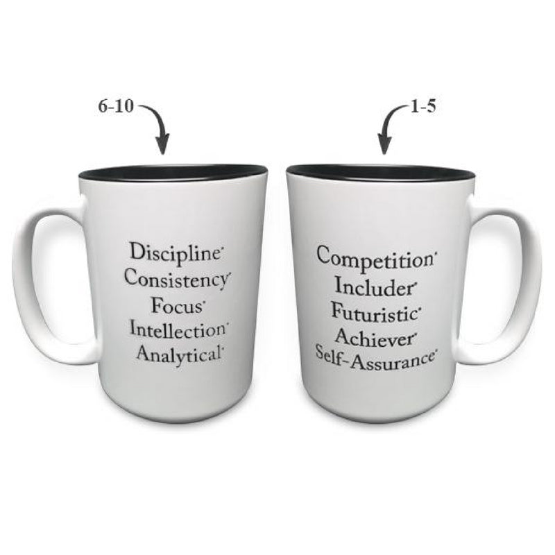 """Top 10"" Strengths Mug (Black)"