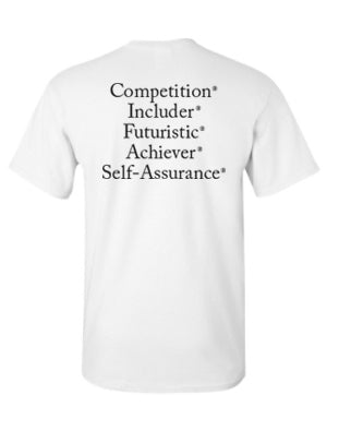 "StrengthsFinder ""Dri Fit"" T-Shirt (White)"