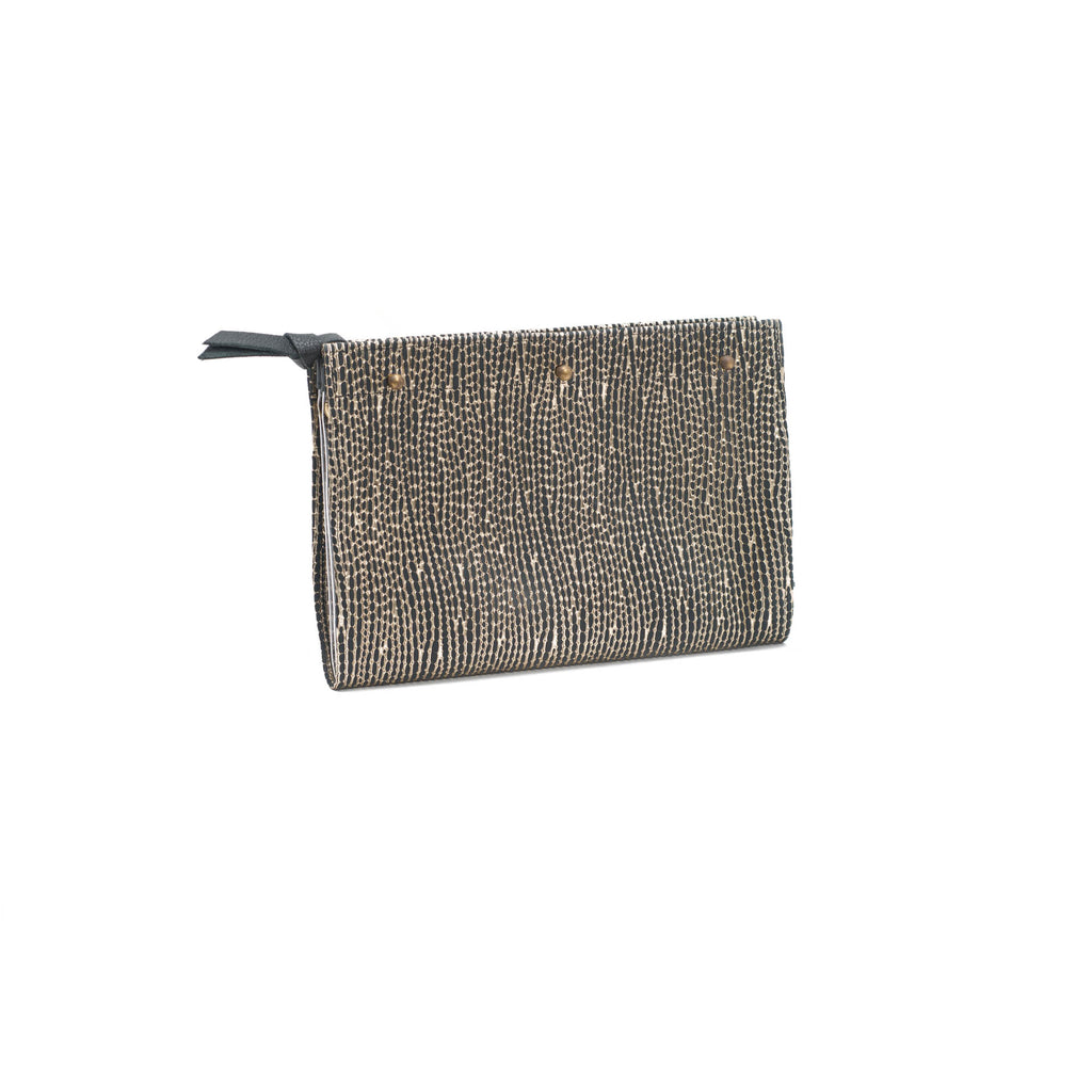 Lindner Pouch- Black/Gold Leather