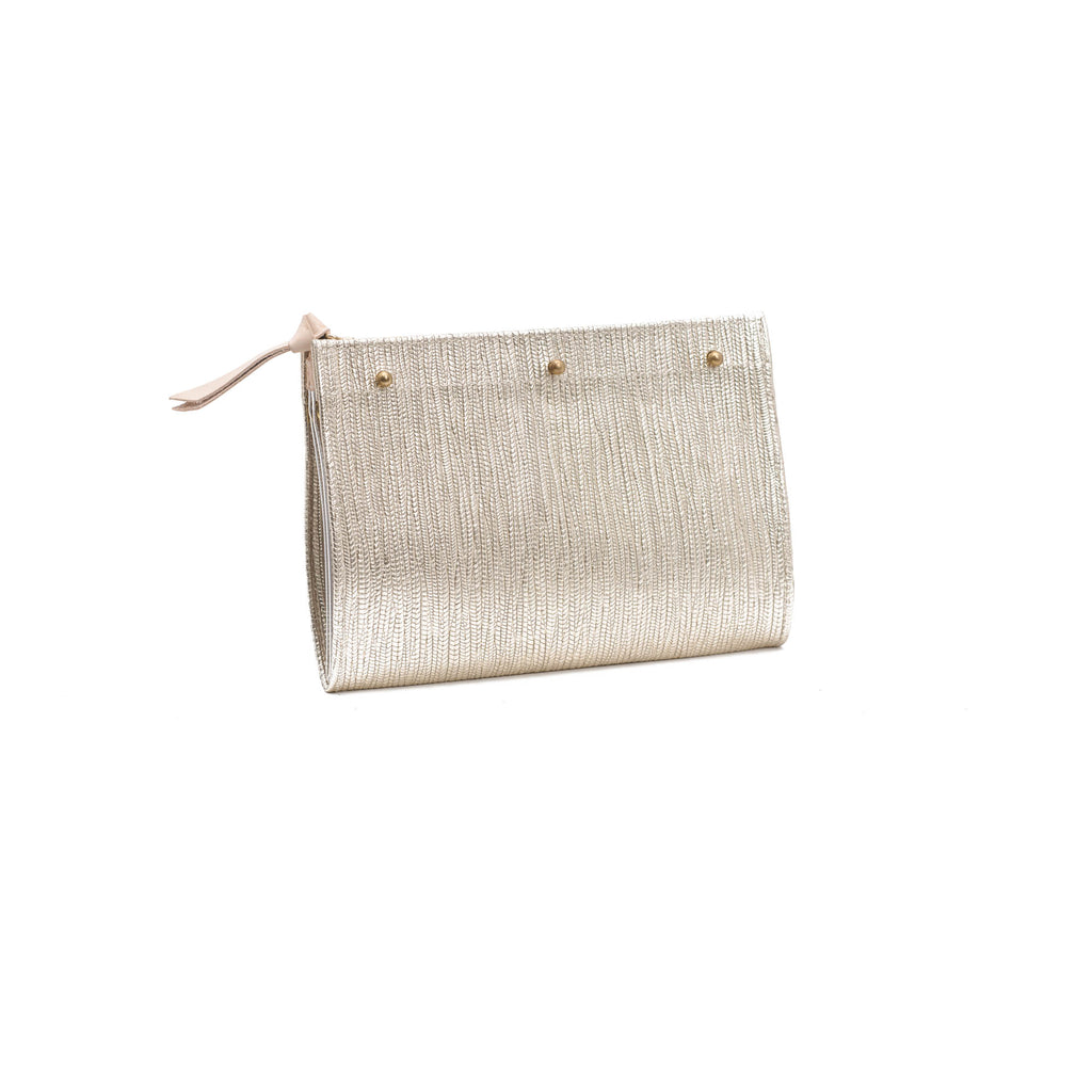 Lindner Pouch- Natural/Gold Leather