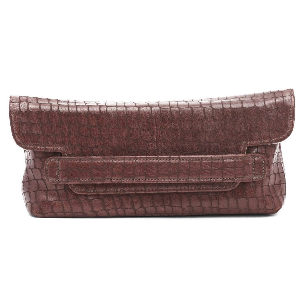Founder's Clutch- Cordovan/ Gold