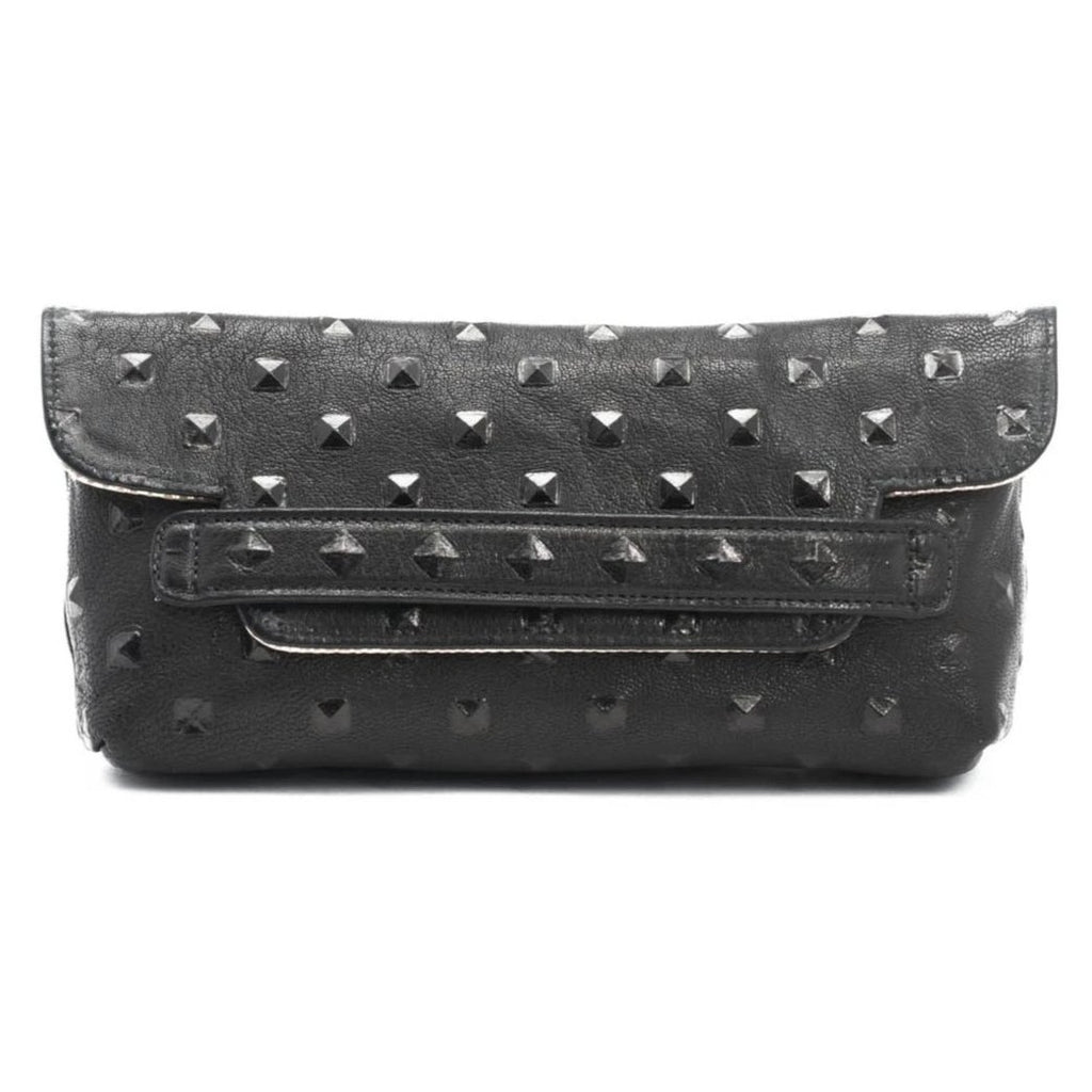 Founder's Clutch - Black Studded/ Gold