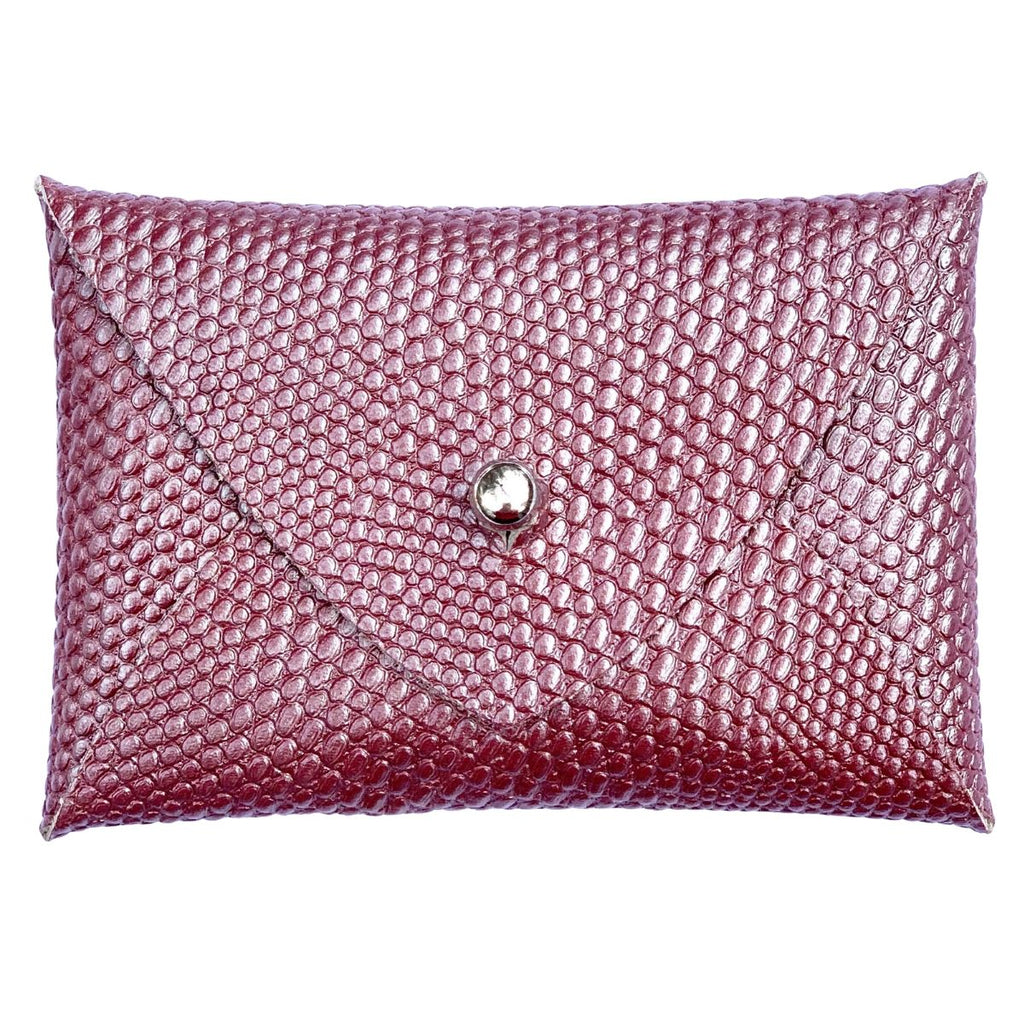 Mighty Mini Wallet - Metallic Pink Snake