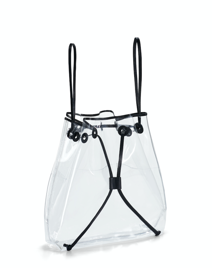 Clear BackPack- Black