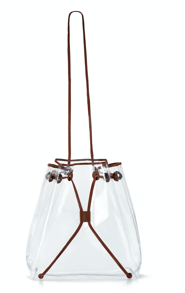 Clear BackPack- Brown