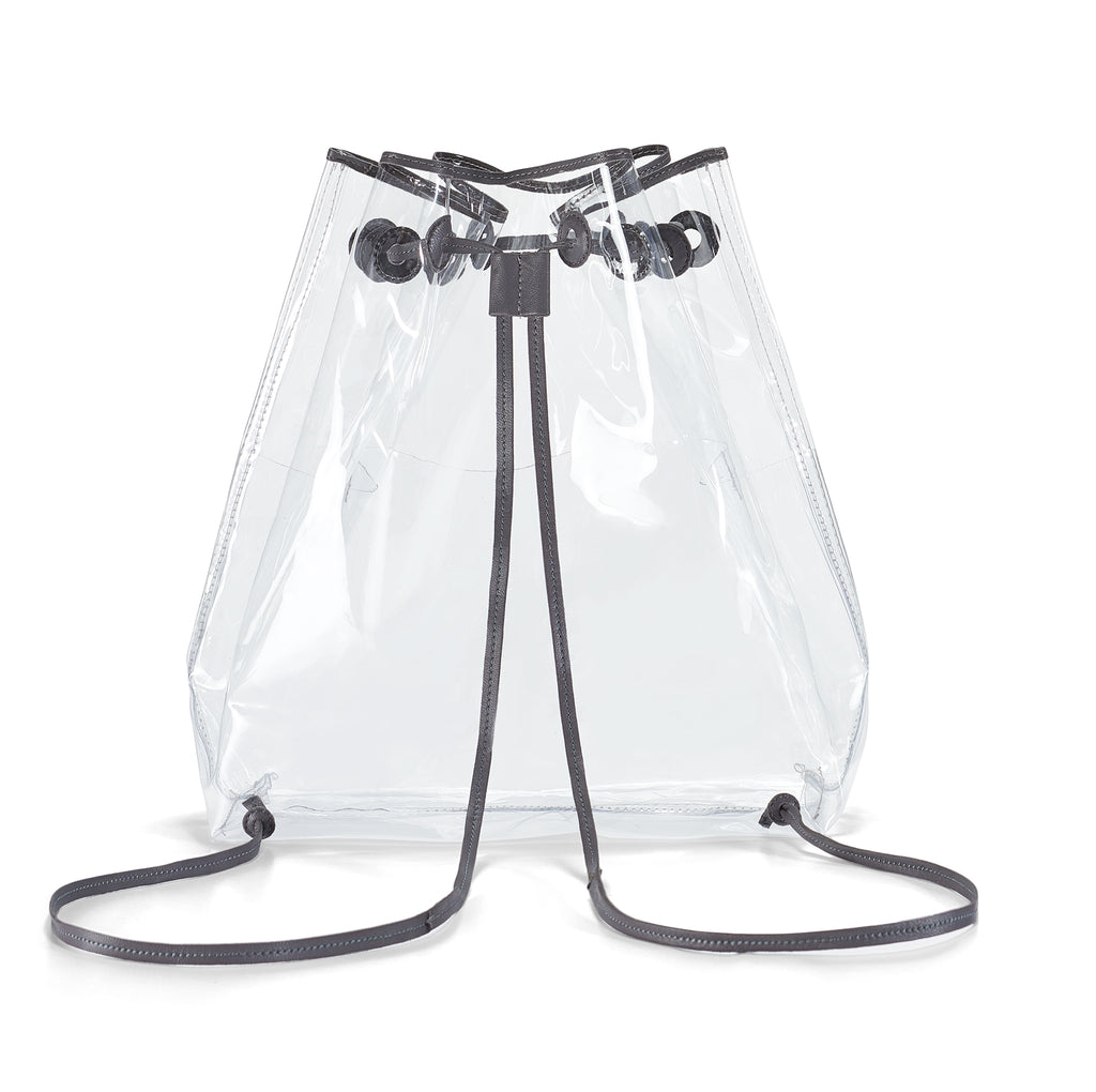 Clear BackPack- Grey