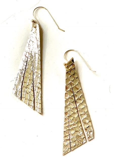 Silver Single Feather Earring