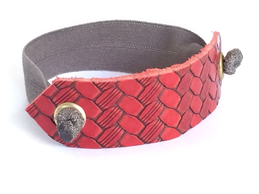 Pony Cuff - Red Basketweave