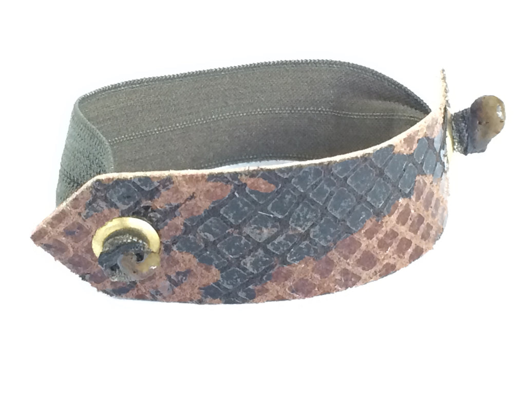 Pony Cuff - Brown Mix Snakeskin