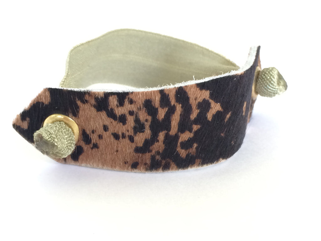 Pony Cuff - Brown Cowhair