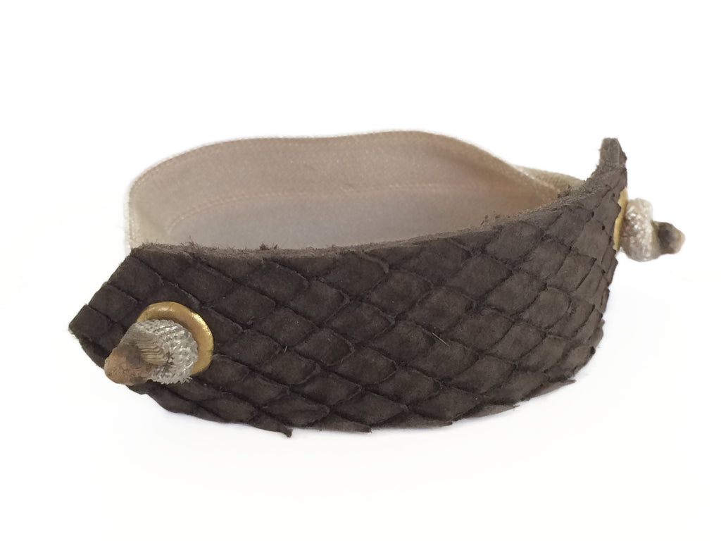 Pony Cuff - Brown Snakeskin