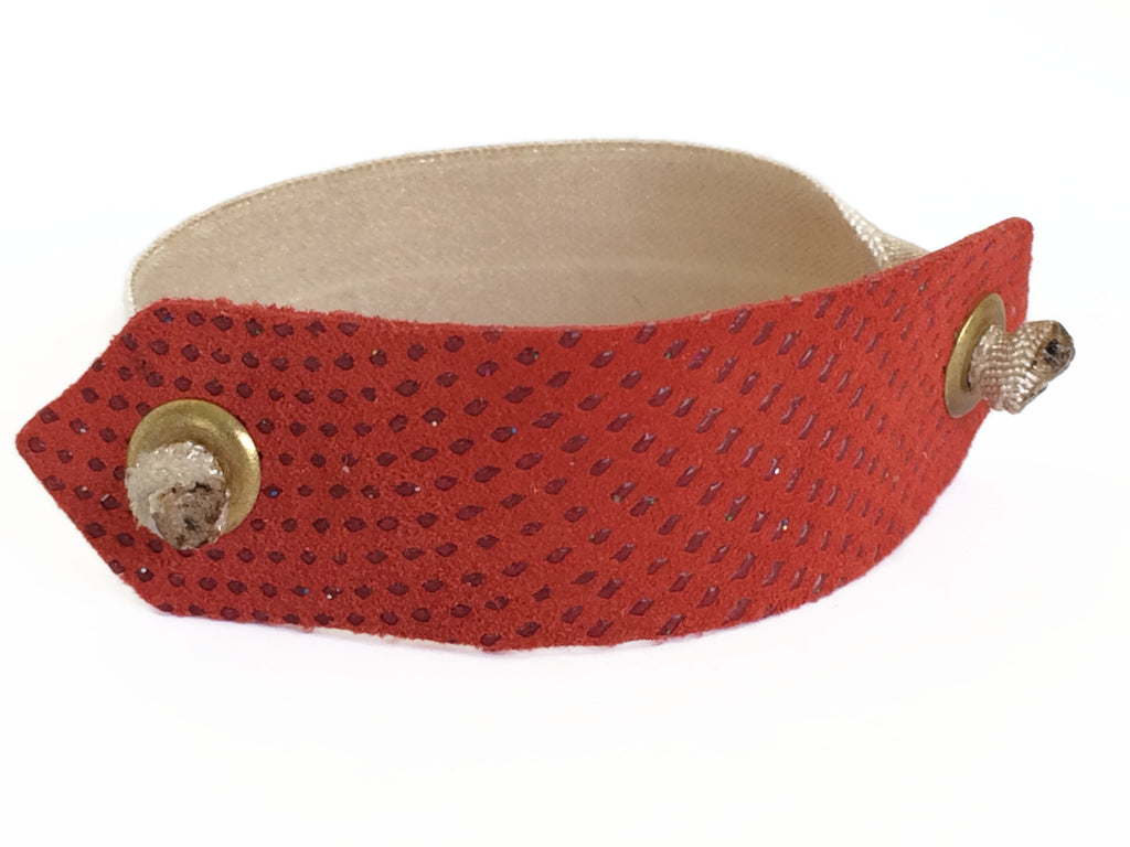 Pony Cuff - Textured Red