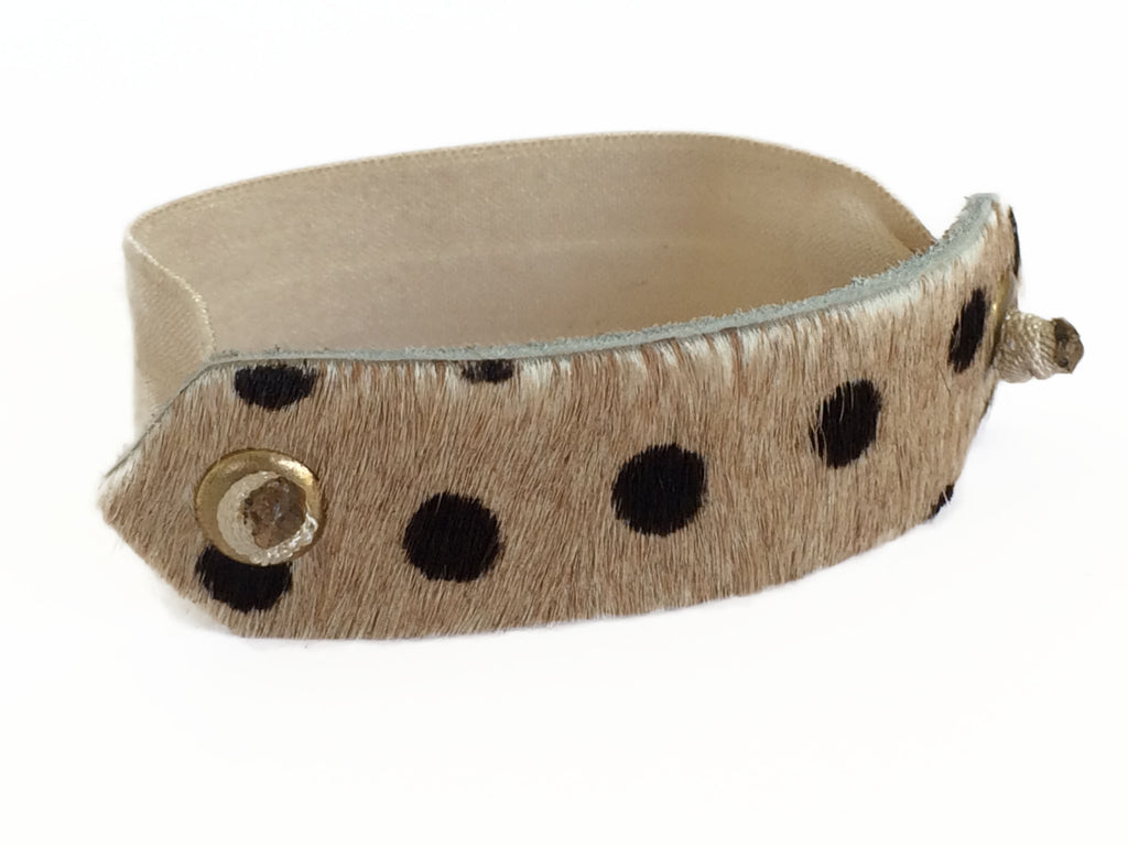 Pony Cuff - Dotted Cowhair