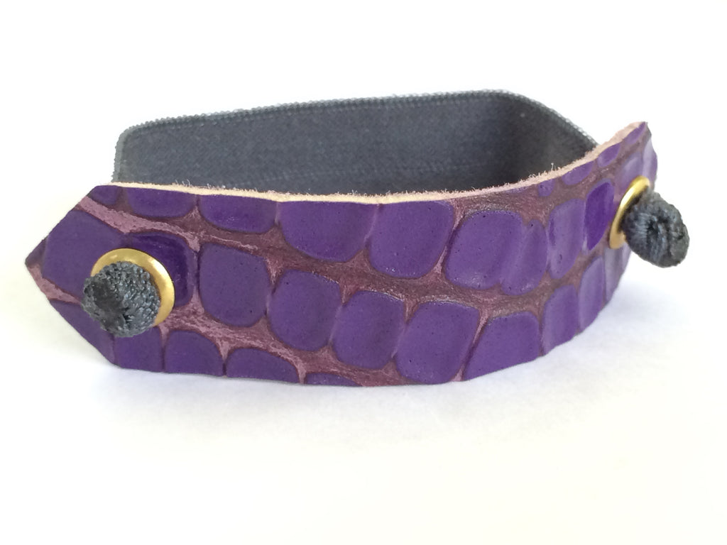 Pony Cuff - Purple Crocodile