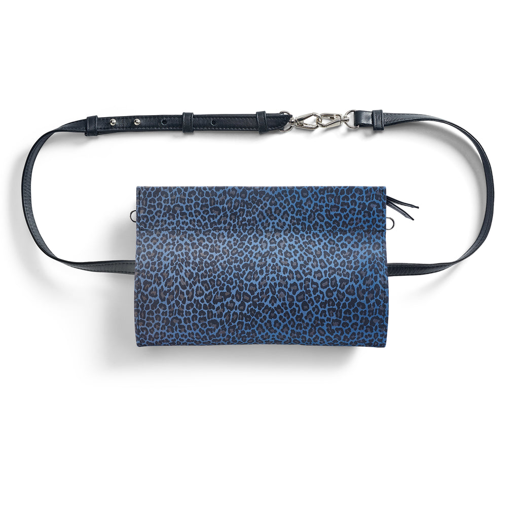 Gamechanger Classic Blue Cheetah 5-In-1 Convertible Crossbody