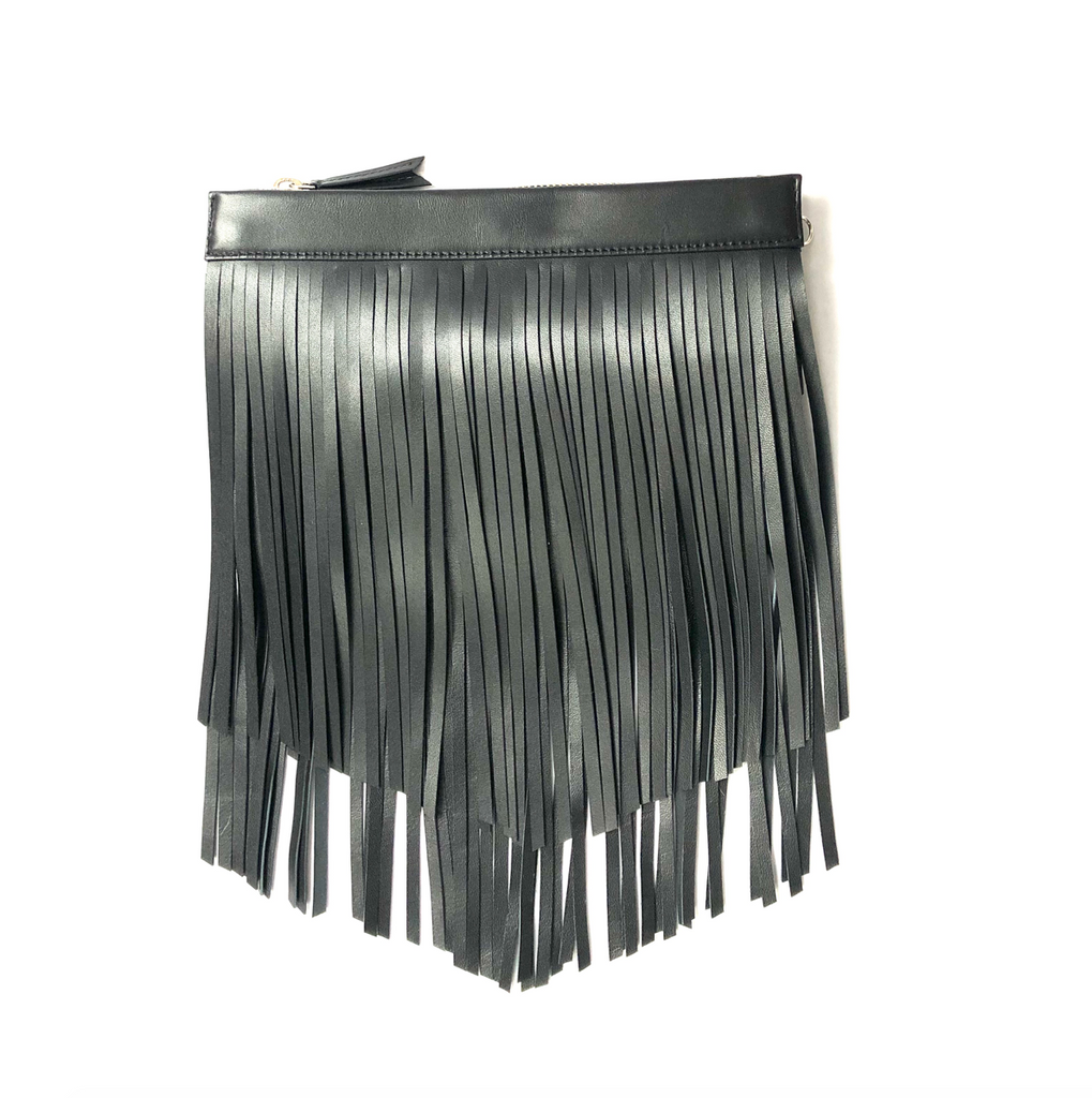 Gamechanger Pouch Black Lambskin Fringe