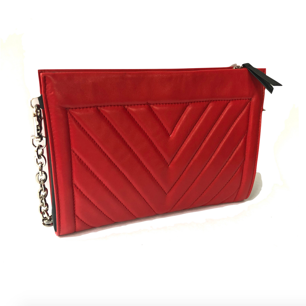 Gamechanger Barrel Georgia Red Quilted Lambskin