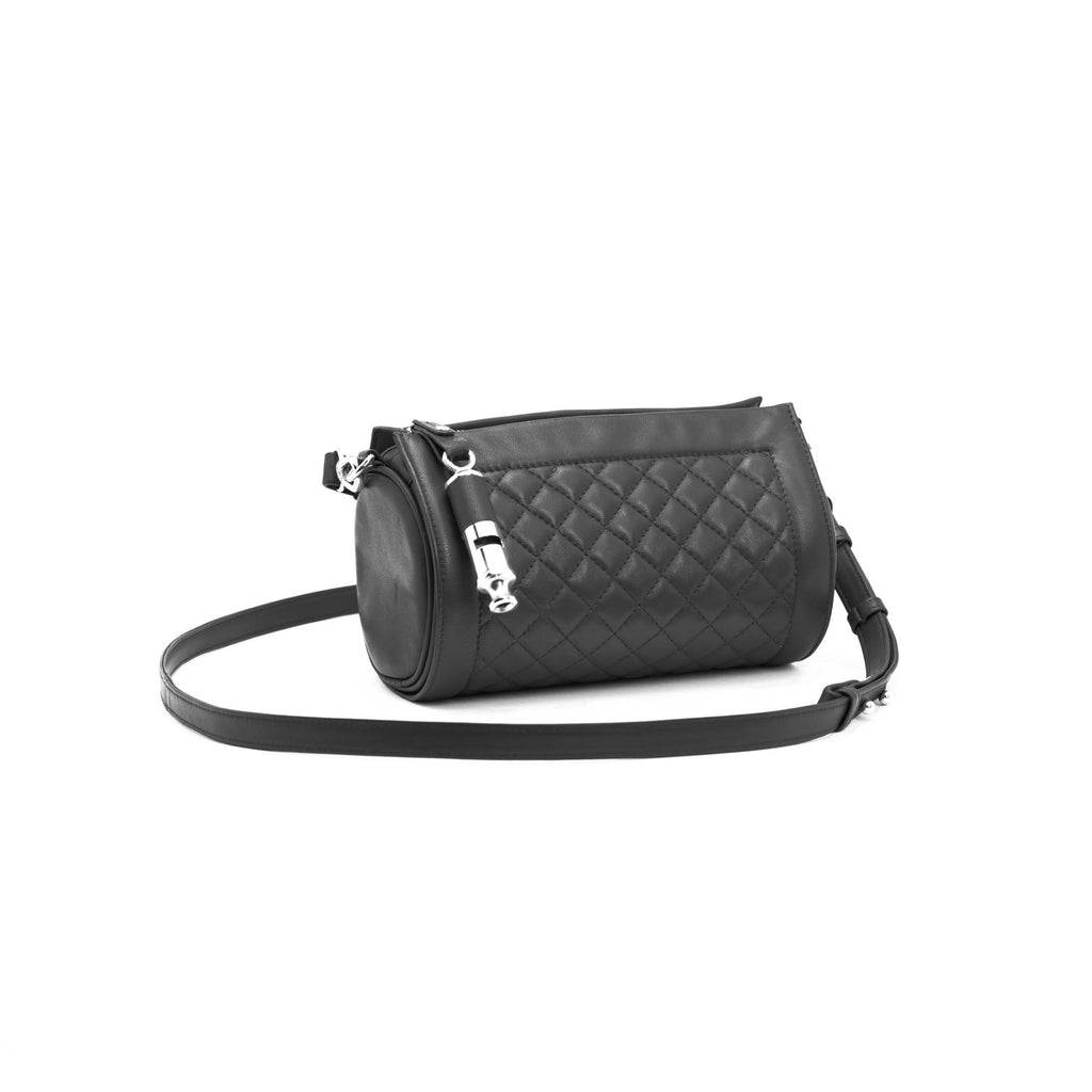 Gamechanger Barrel Quilted Black Lambskin 5-In-1 Handbag