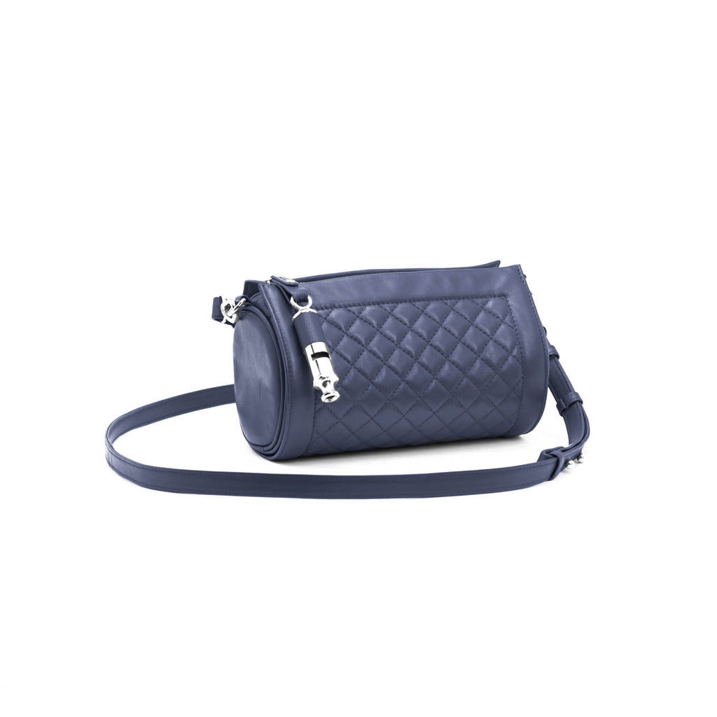 Gamechanger Barrel Quilted Navy Lambskin 5-In-1 Handbag