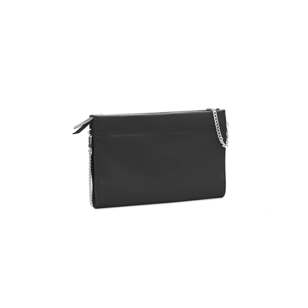 Gamechanger Classic Solid Black Lambskin 5-in-1 Convertible Crossbody